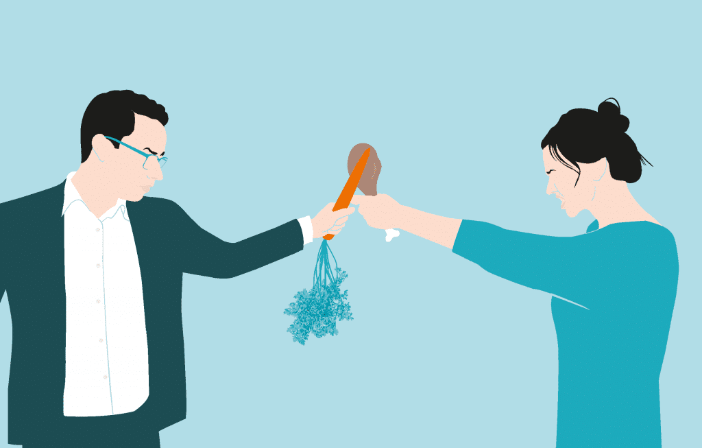carnivoor tegen vegetarier