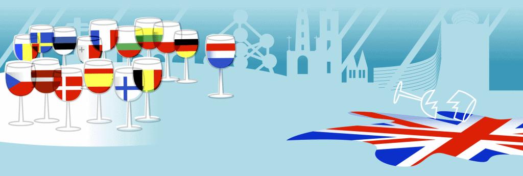 Europese unie vlaggen