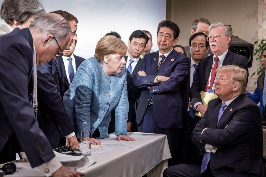 Merkel en Trump